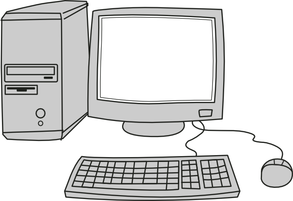 Computer clip art computer screen. Blank at clker com
