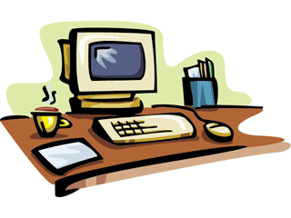Computer clip art computer screen. Clipart office pencil and