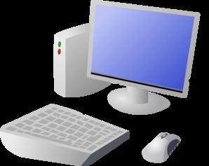 Cartoon and desktop at. Computer clip art computer terminal