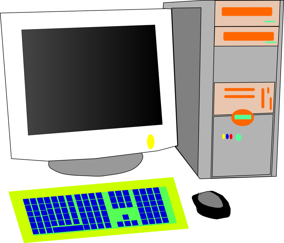Public domain clip art. Technology clipart computer user