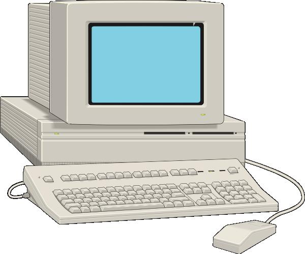 Large antique at clker. Computer clip art computer terminal
