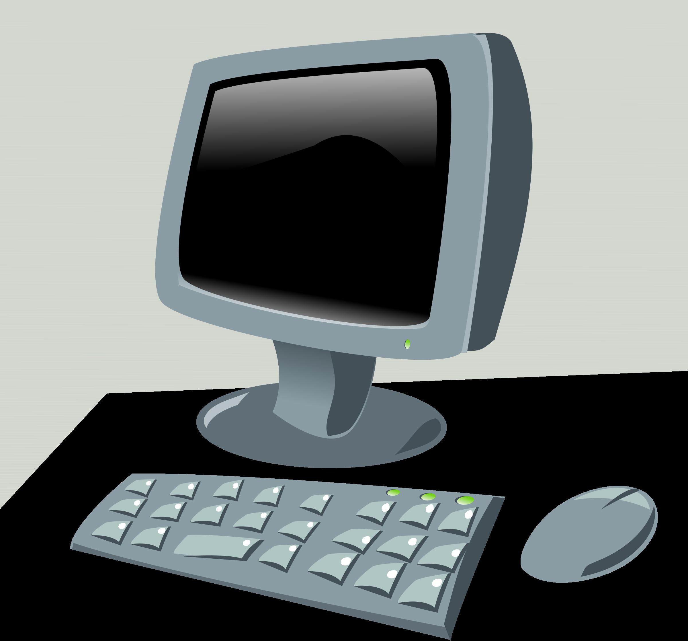 Clipart cartoon big image. Computer clip art computer terminal