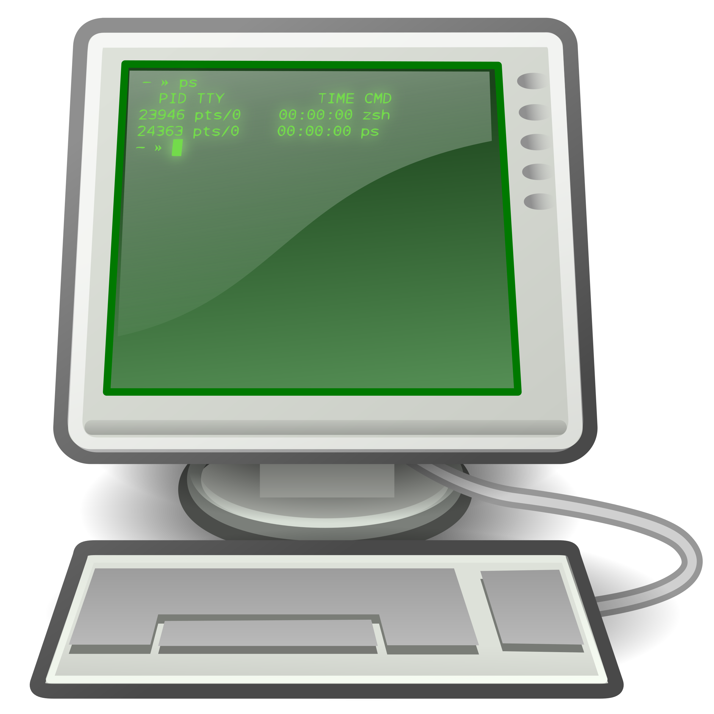 Computer clip art computer terminal. Clipart turned on big