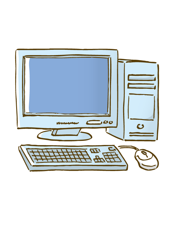 Desktop computer drawing at. Electronics clipart personal thing