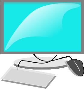 At clker com vector. Computer clip art computer terminal