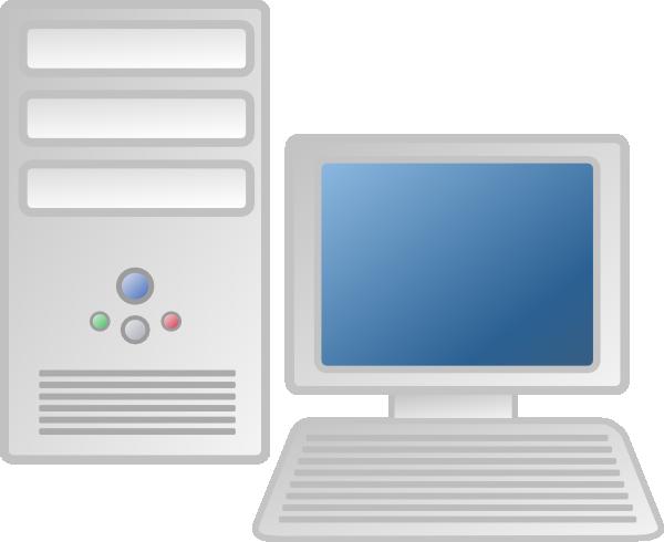Computer clip art computer workstation. At clker com vector