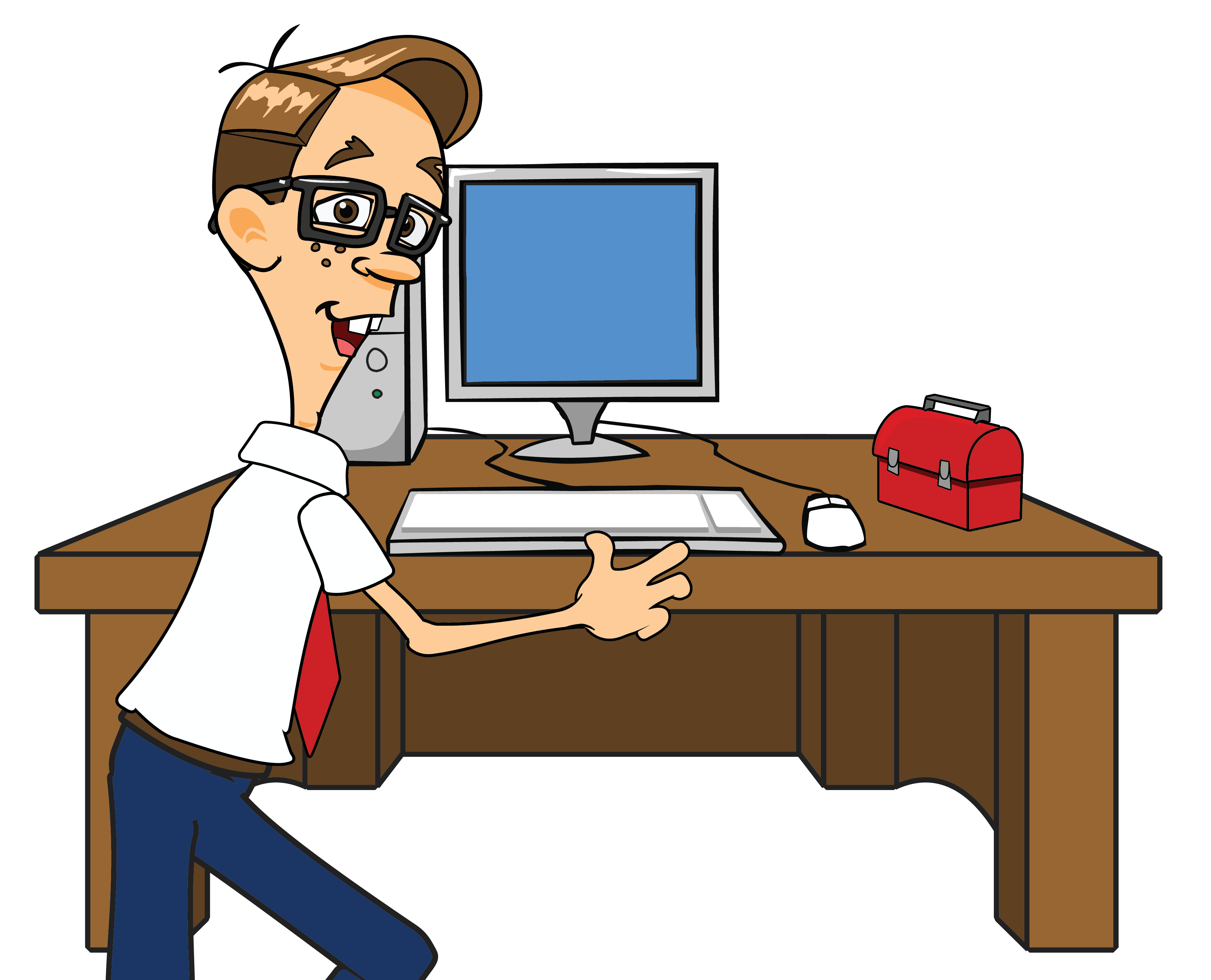 Computer repair picture free. Telephone clipart desk job