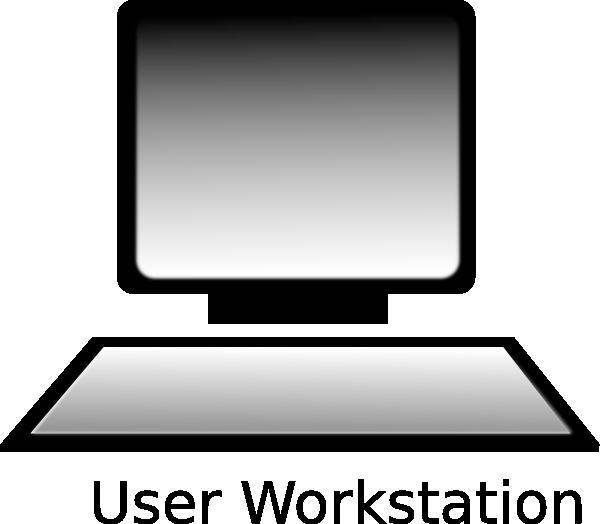 At clker com vector. Computer clip art computer workstation