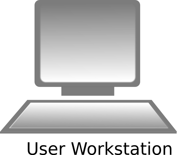 computer clip art computer workstation