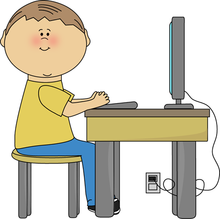 Preschool clipart computer. Student using clip art