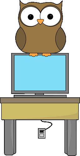 Owl classroom technology expert. Computer clip art cute