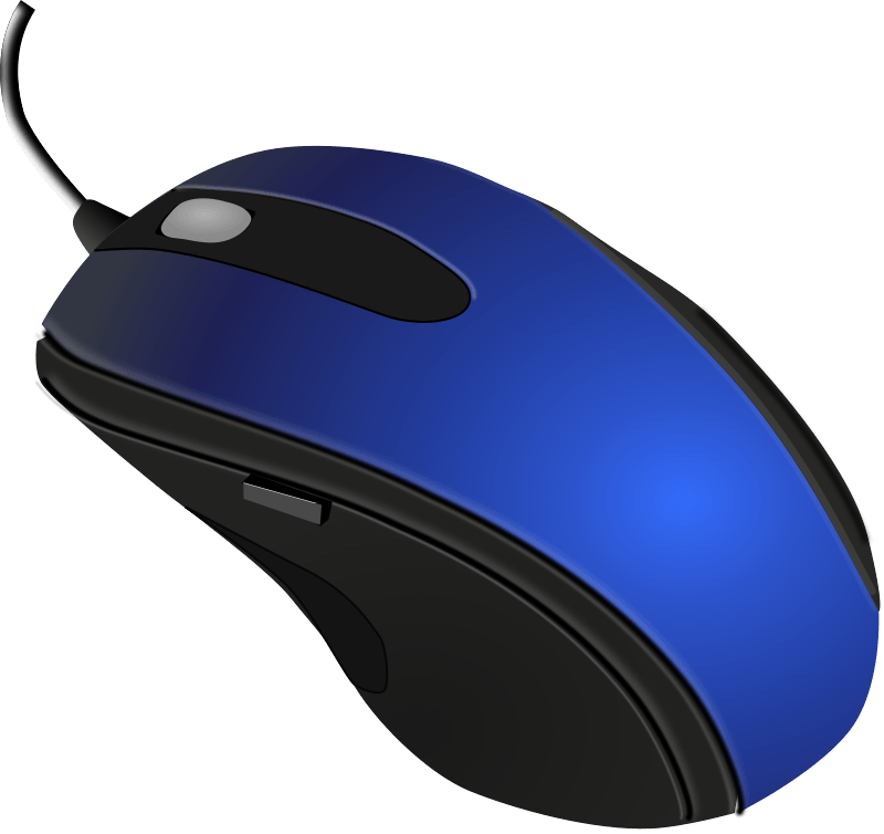 Computer clip art friendly. Blue black mouse transparent