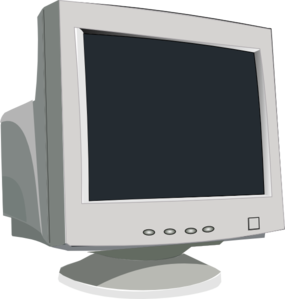 Old monitor at clker. Computer clip art minimalist