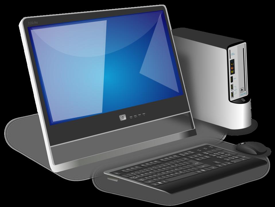 Public domain image generic. Computer clip art office computer