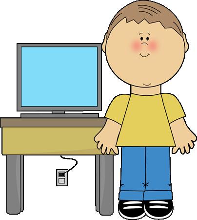 Computer clip art office computer. Classroom job images vector