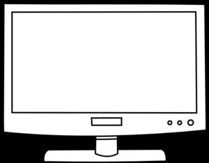 Television clipart . Computer clip art outline