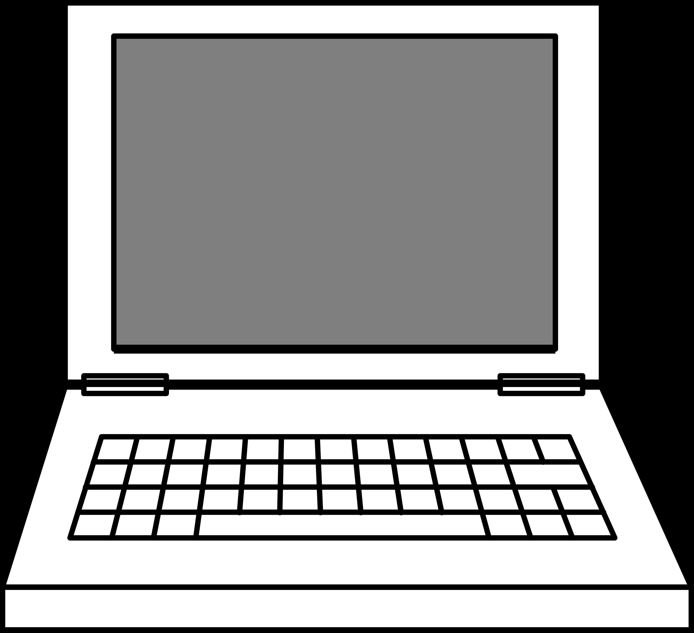 Clipart. Computer clip art outline