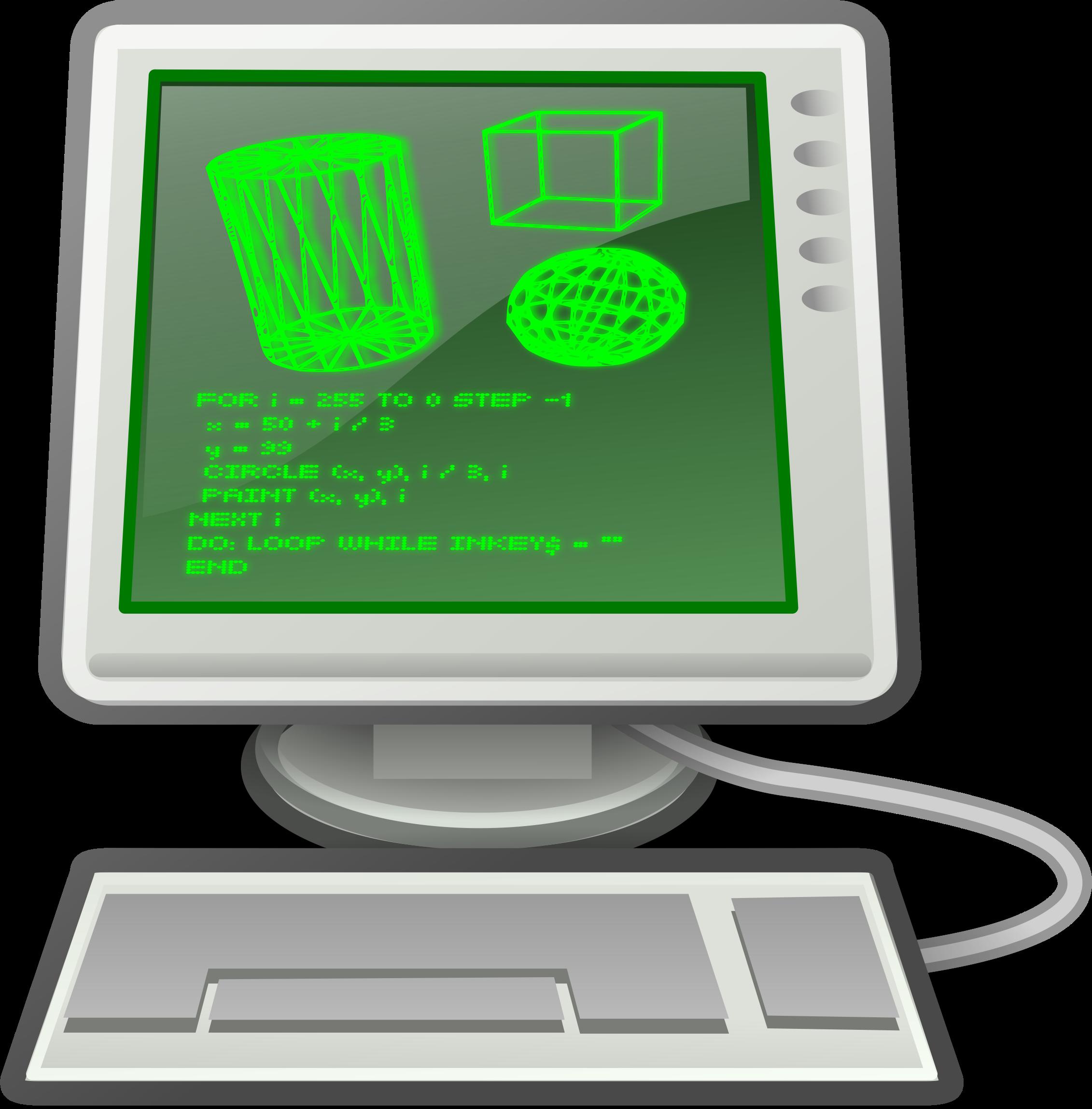 Circle clipart computer. Retro big image png