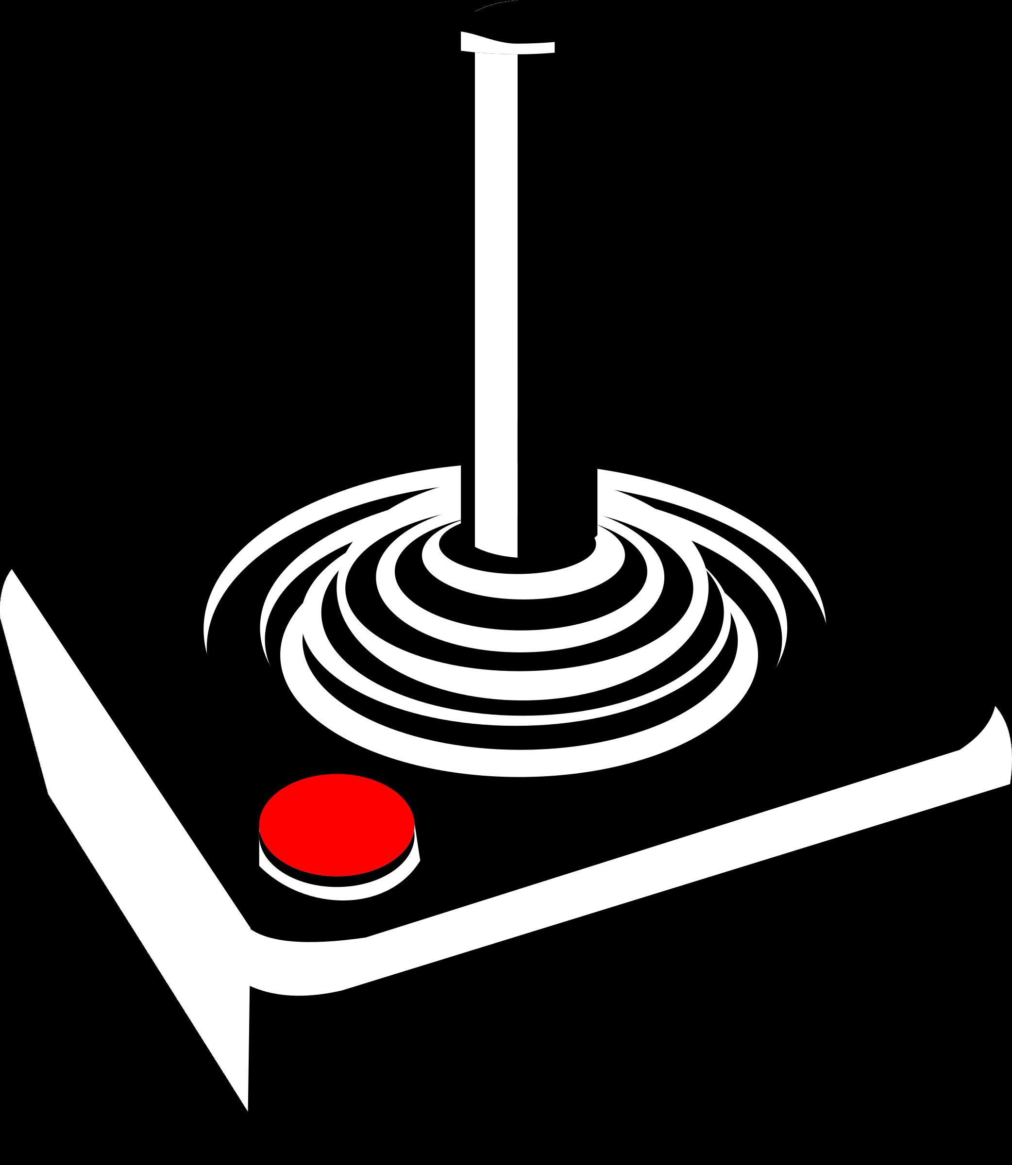Clipart joystick big image. Computer clip art retro