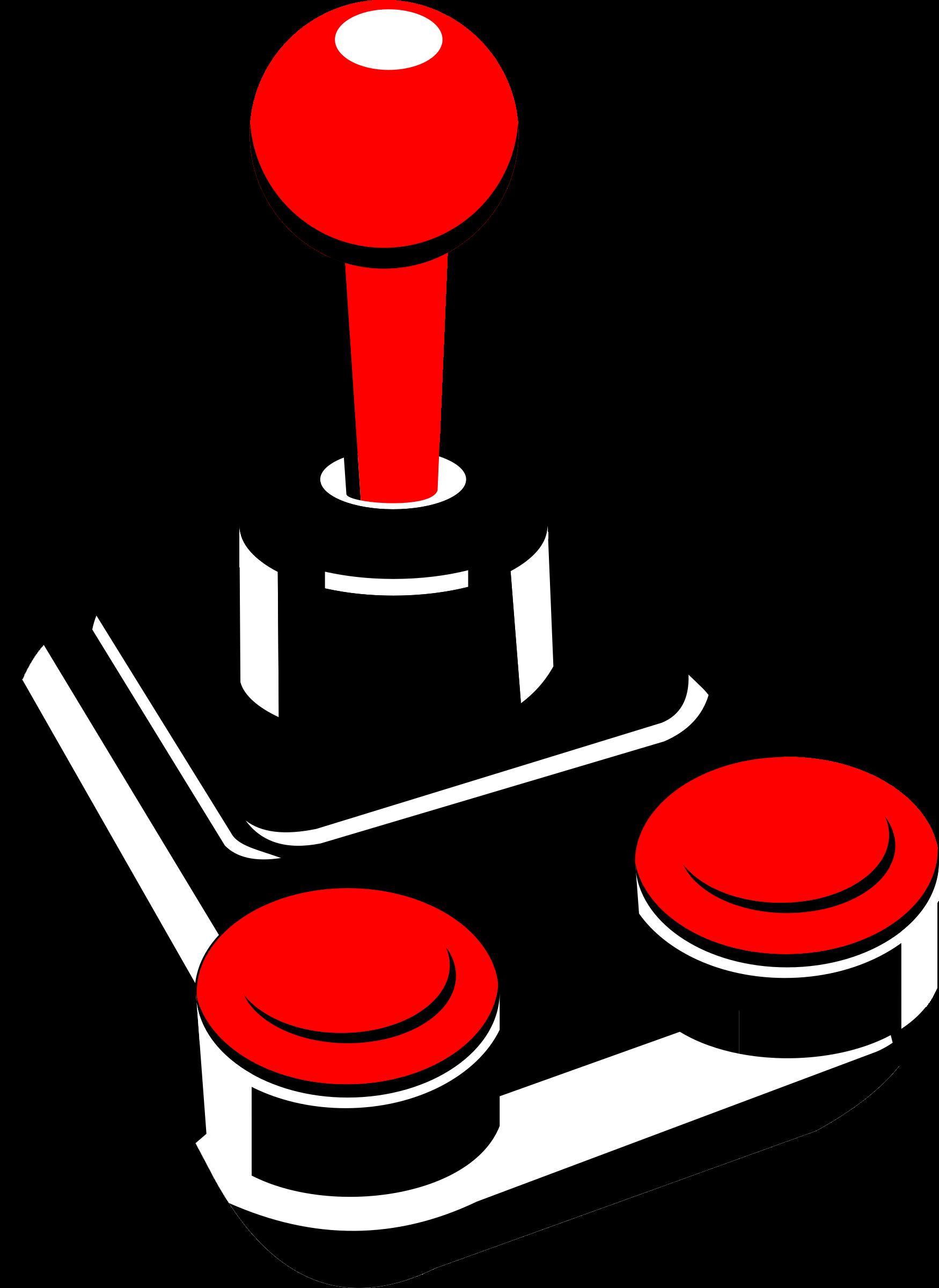 Computer clip art retro. Clipart joystick big image