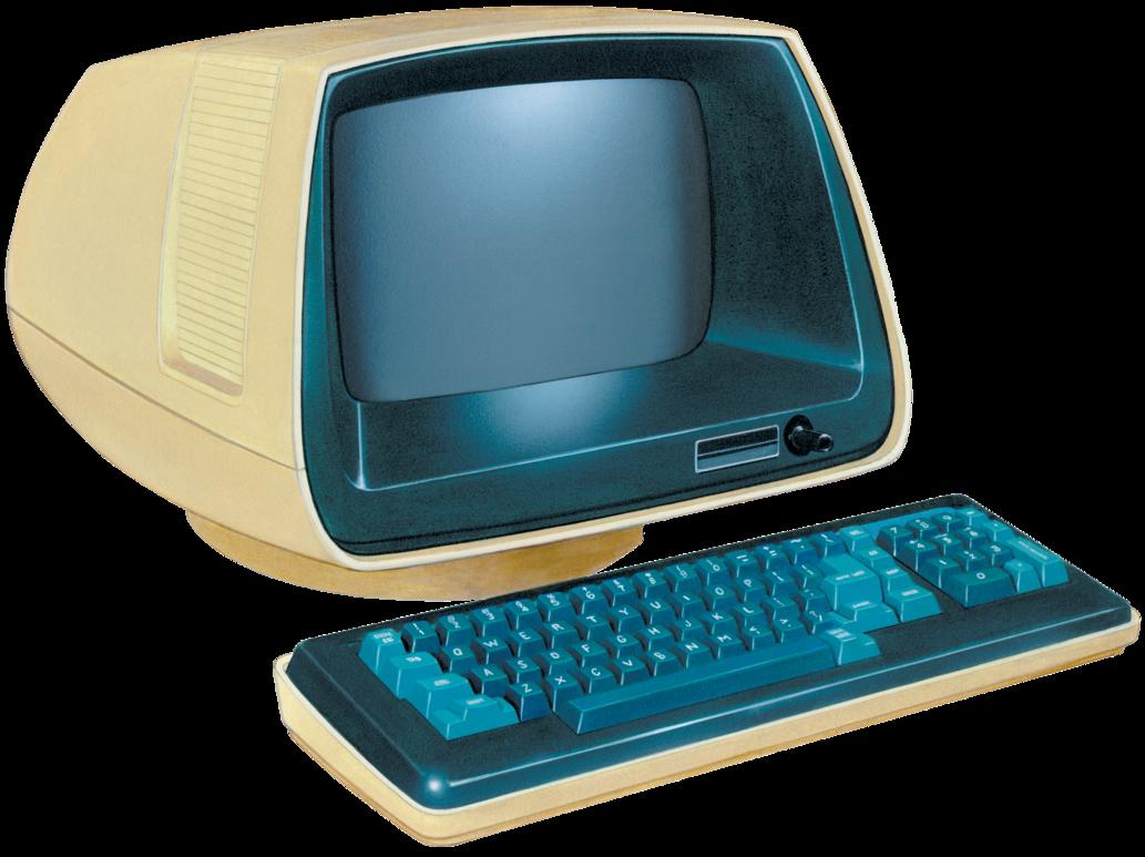 Computer clip art retro. Png images download free