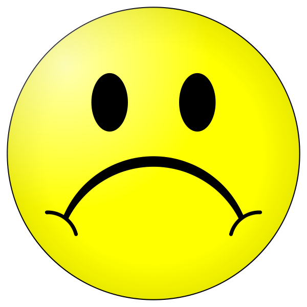 Computer clip art sad. Face smiley free download