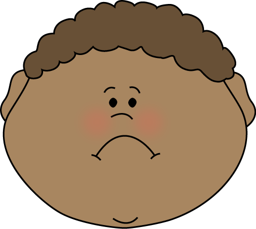 Computer clip art sad. Little boy face image