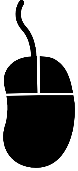 Computer clip art silhouette. Mouse clipart
