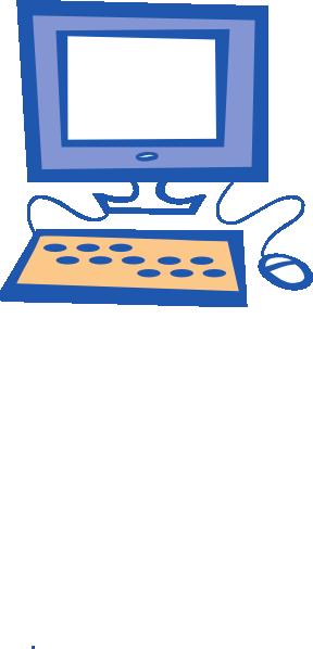 At clker com vector. Computer clip art simple