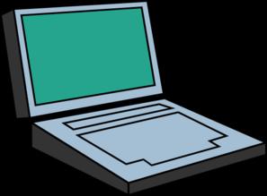 Computer clip art simple. Laptop at clker com