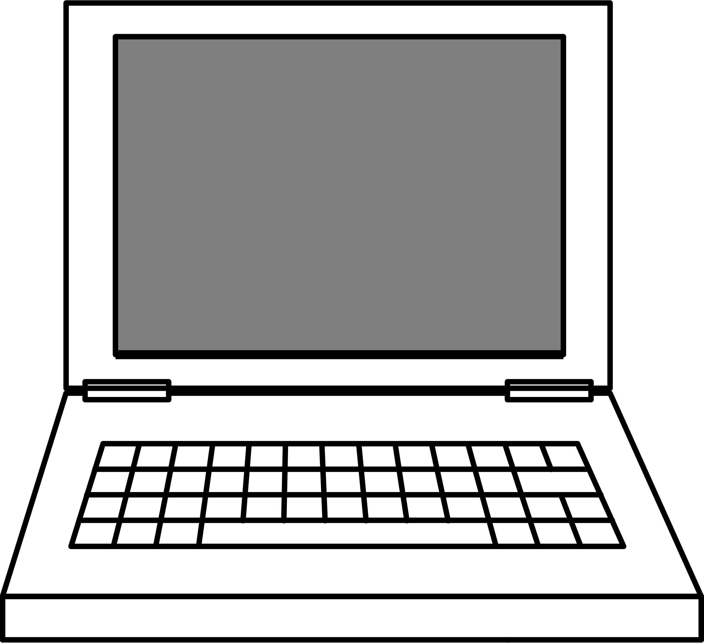 Laptop transparent background clipartxtras. Keyboard clipart coloring page