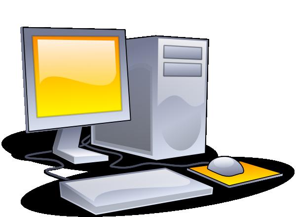 Desktop computer clip art. Computers clipart