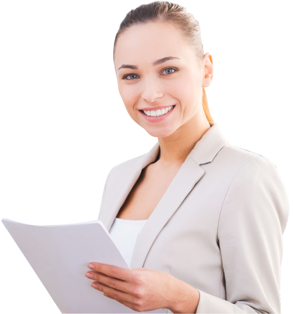 Beautiful smiling with tablet. Computer clipart business woman