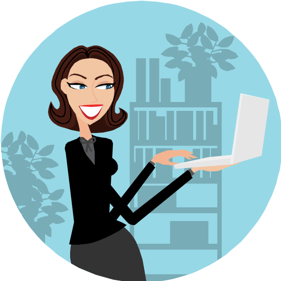 Computer clipart business woman. Women and girls accessing