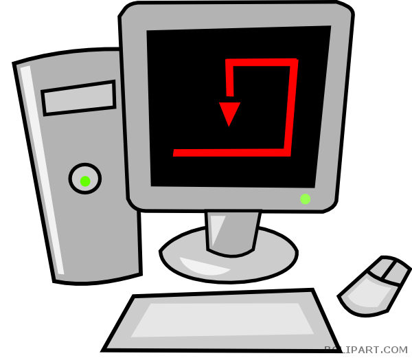 Computers clipart cartoon. Computer bclipart tools free