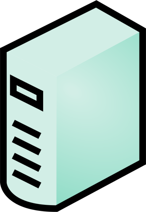Computer clipart casing.  icon clip art