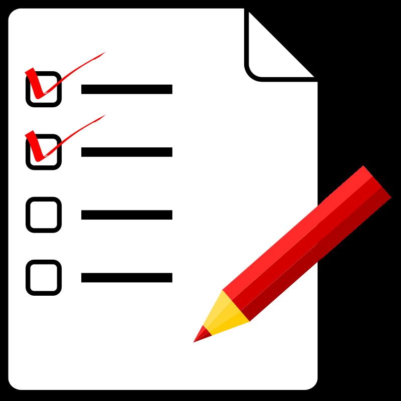 Computer clipart checklist. List clip art free