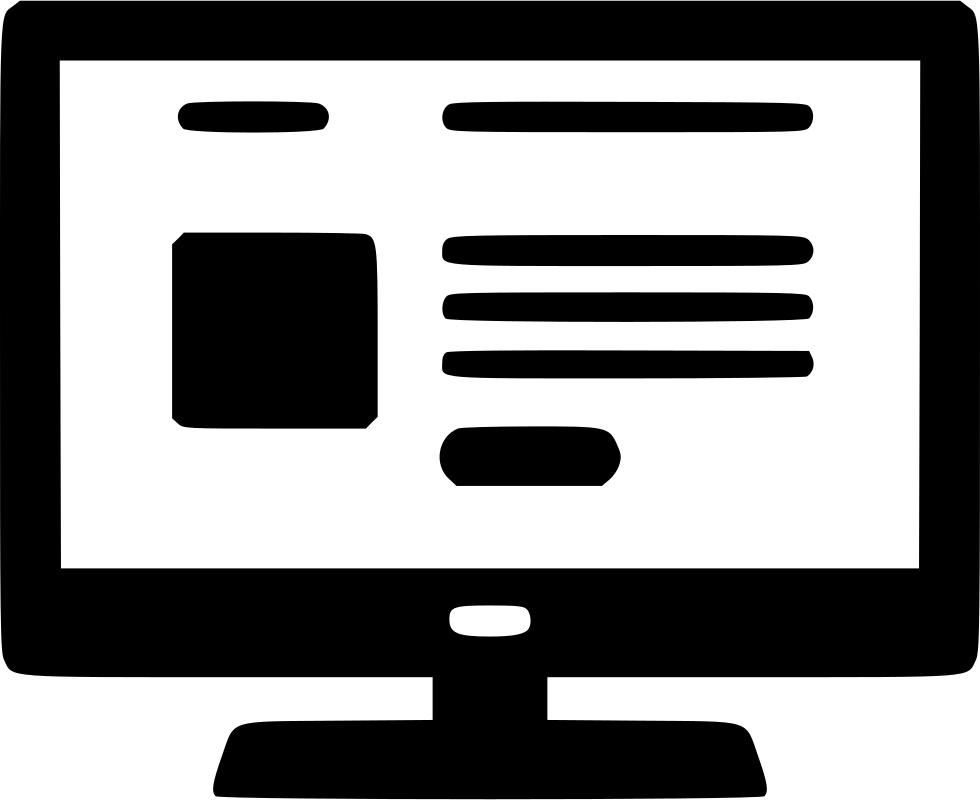 website clipart computer website