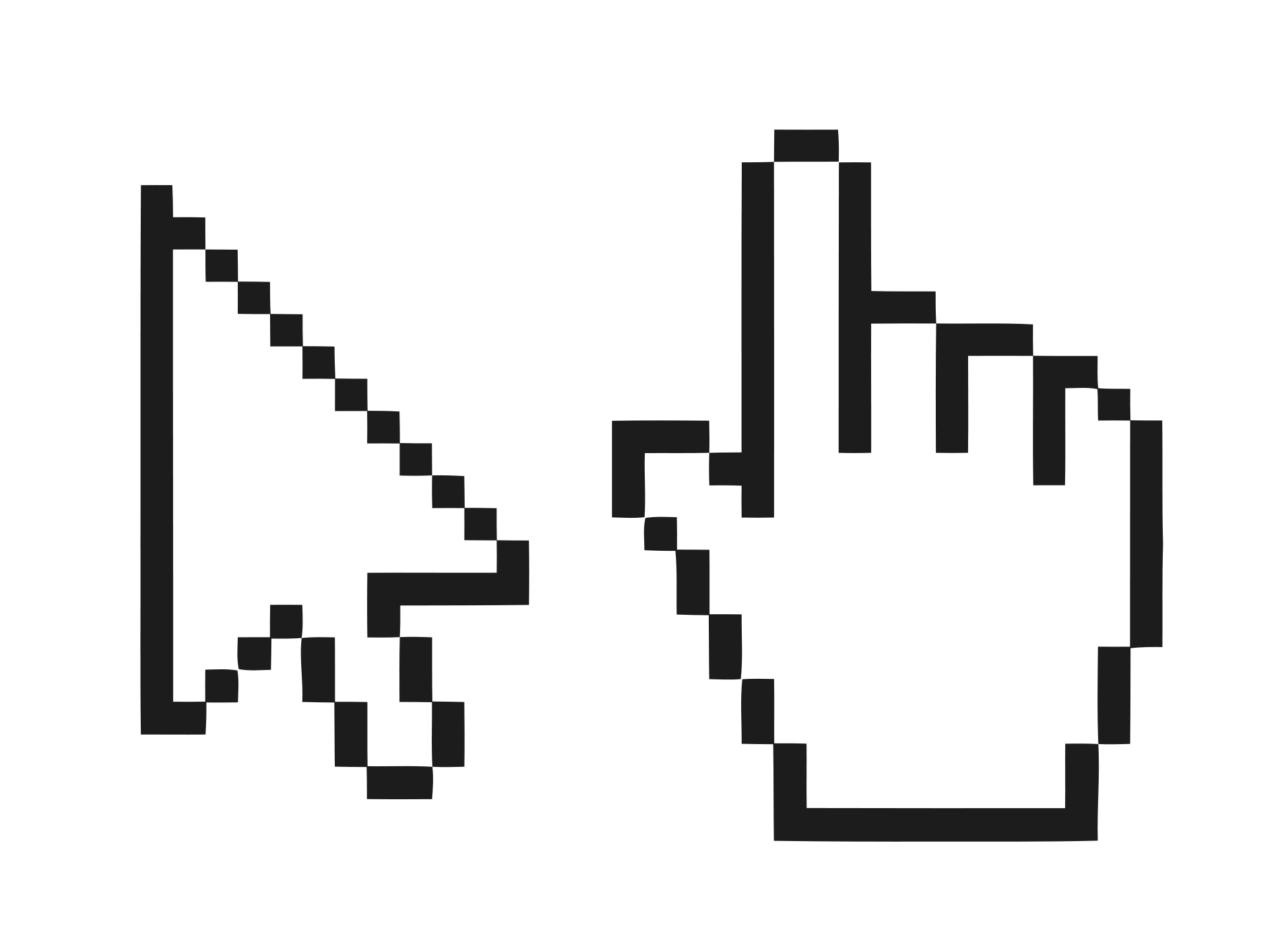 File mouse hand pointer. Windows cursor png