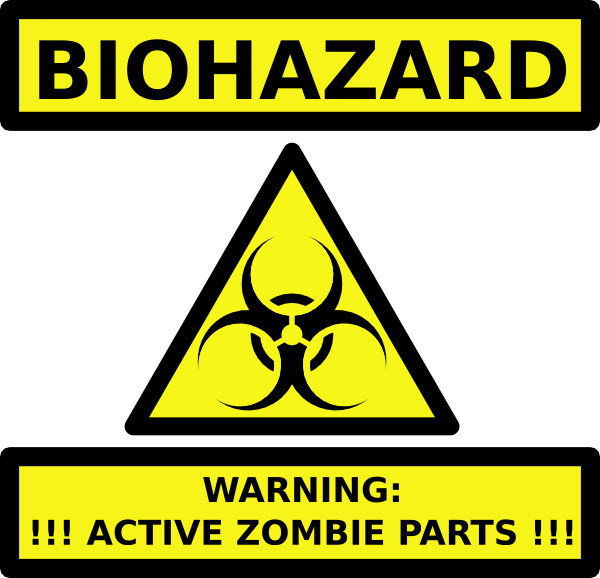 Zombie clipart royalty free. Toxic hazard collection download