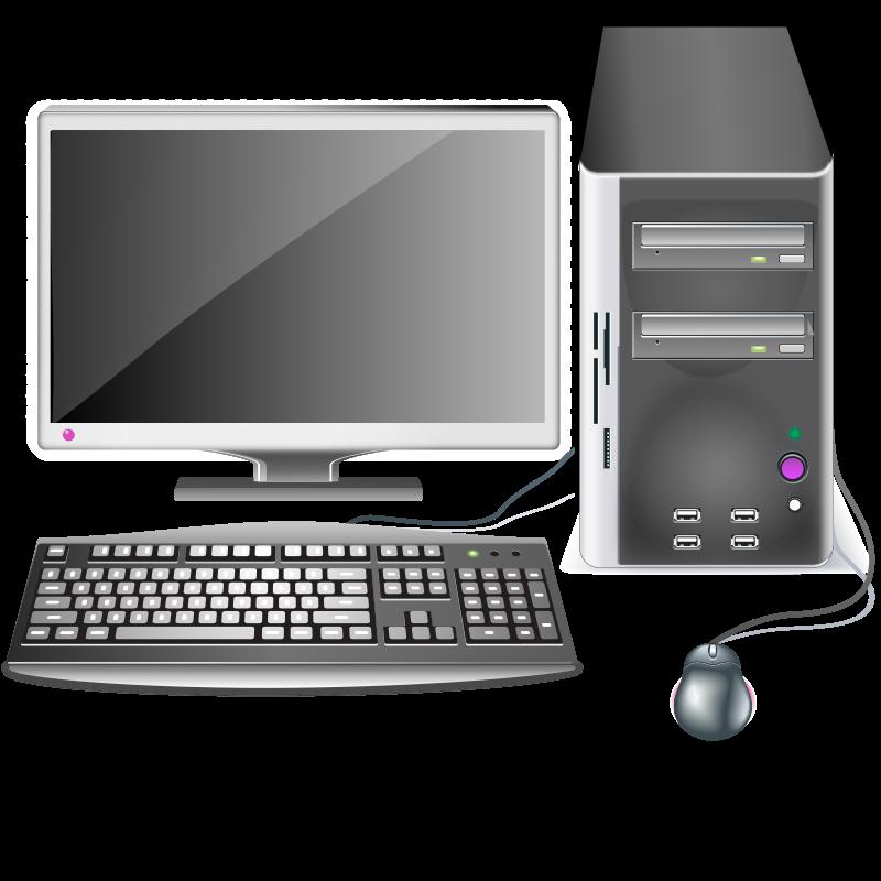 Keyboard clipart ict. Computer station medium image