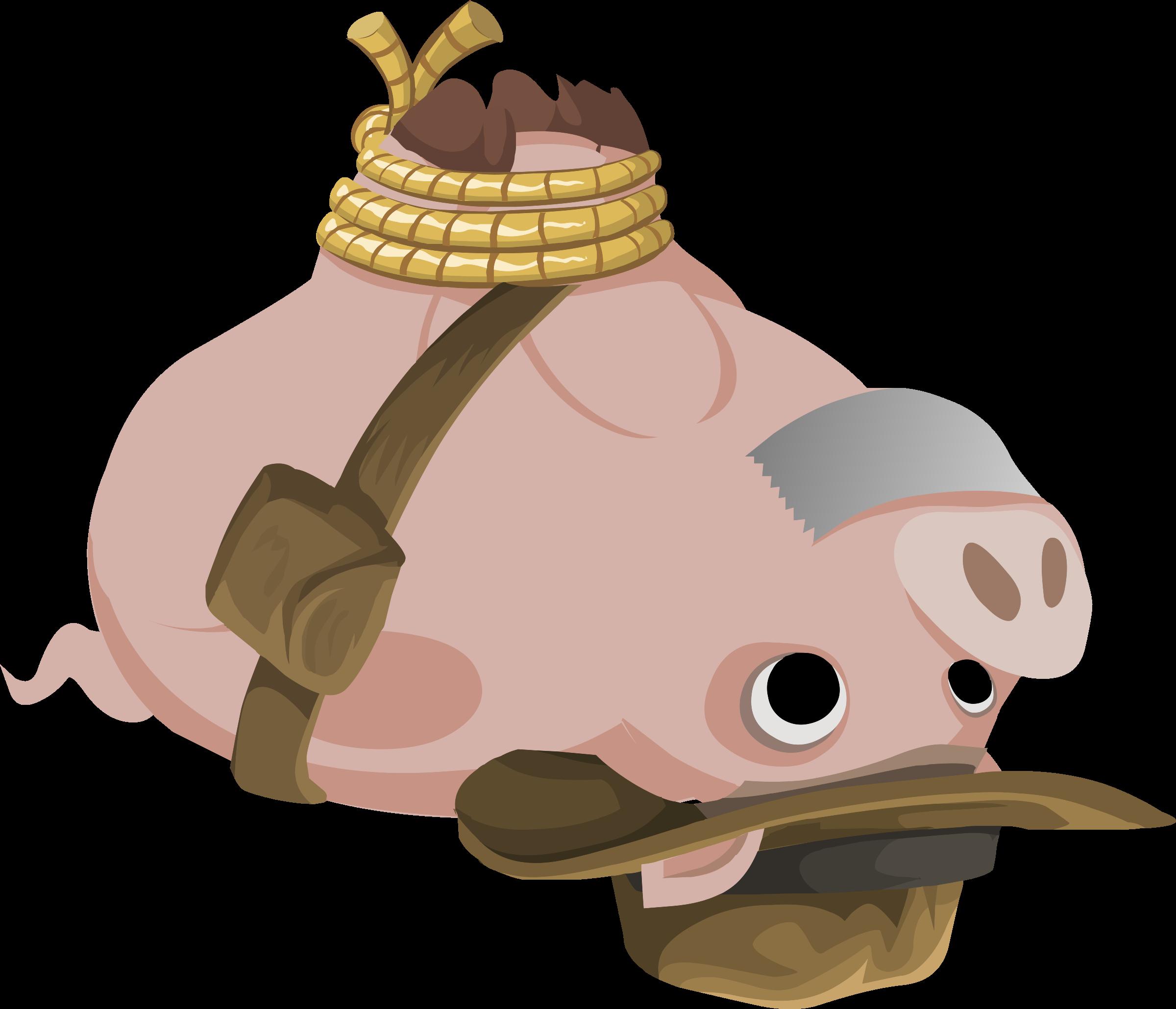 Quest items hogtied piggy. Computers clipart item