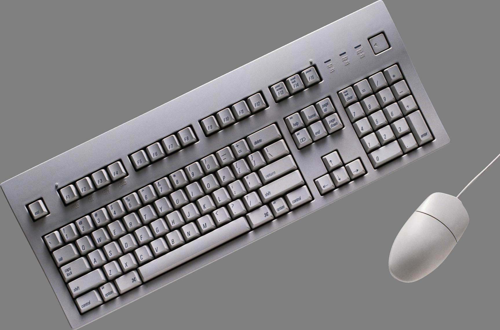 White clipart keyboard. Png image purepng free