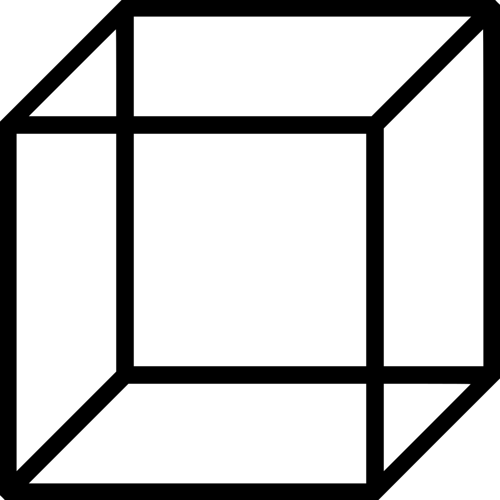 Cube svg png icon. Computer clipart plotter