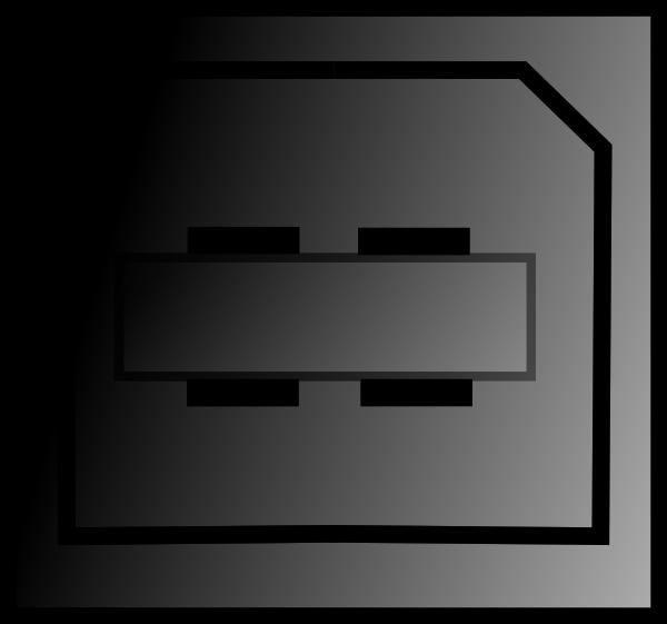 Computers clipart plug. Pc connectors usb printer