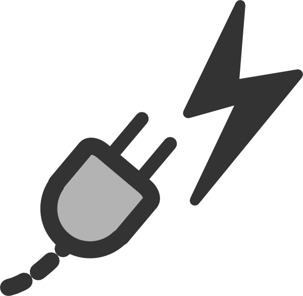 Computer clipart plug. Power symbol clip art