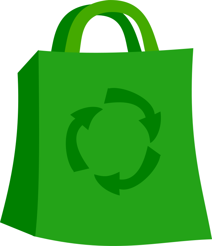 Computer clipart shopping. Free green bag psd