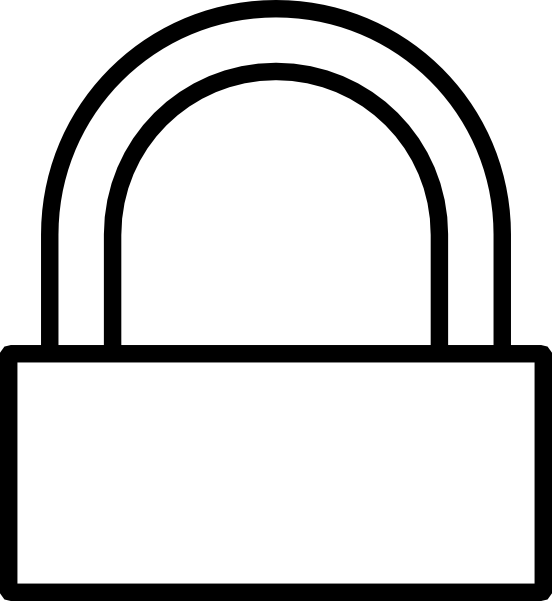Lock clipart simple. Computer clip art library