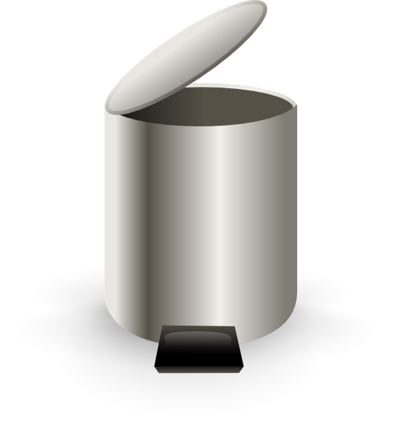 Garbage clipart waste material. Open trash can clip