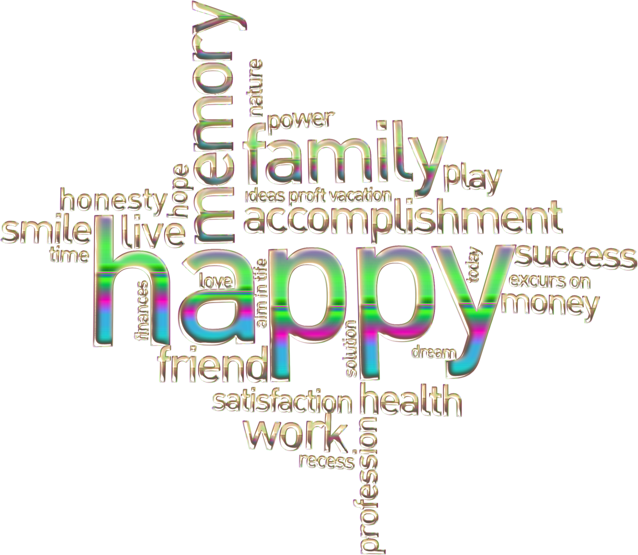 Happy family cloud enhanced. Nature clipart word